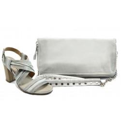 Комплект обувки и чанта ИО 1471 + ИО 30 бели