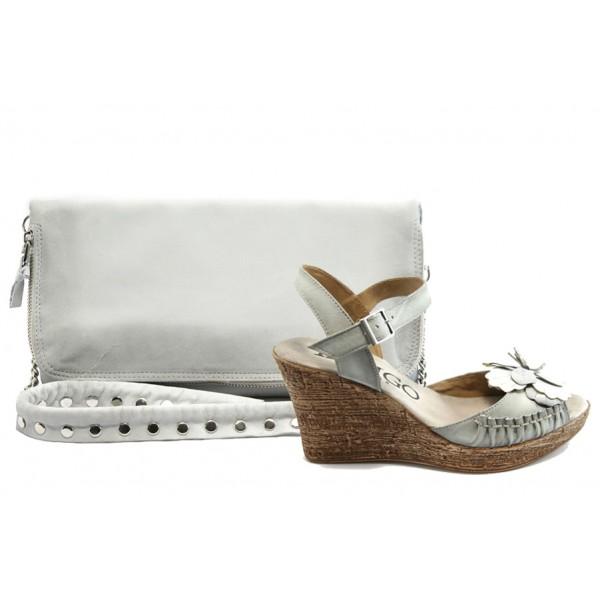 Комплект обувки и чанта ИО 1384 и ИО 30 бели