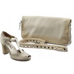 Комплект обувки и чанта ИО 1485 + ИО 30 бежови