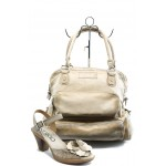 Комплект обувки и чанта ИО 1384 и ИО 2 бежови