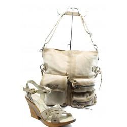 Комплект обувки и чанта МЙ 24164 и ИО 3 бежови