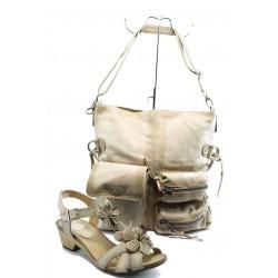 Комплект обувки и чанта ИО 1388 и 3 бежови