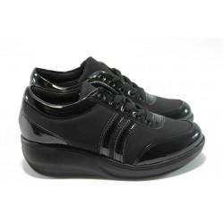 Дамски обувки на платформа МИ 215 черни