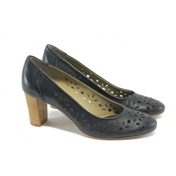 Дамски летни обувки с перфорация ГО 0398-2962 сини