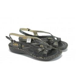 Български дамски анатомични сандали ГР 5005 черни