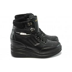 Дамски спортни боти на платформа МИ 405 черни