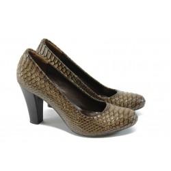 Елегантни дамски обувки на висок ток МИ 4146 визон