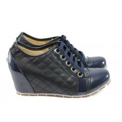 Дамска спортна обувка на платформа МИ 500 син