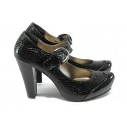 Дамски обувки на висок ток МИ 74 черни