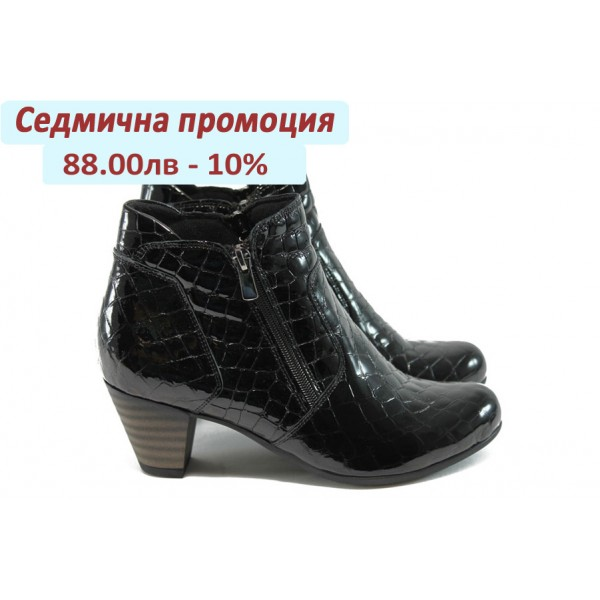Елегантни дамски боти на ток МИ 285-854 черни