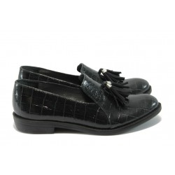 Български спортно-елегантни дамски обувки ГА 792 черни