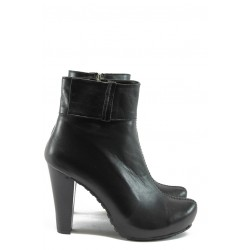 Дамски елегантни боти от естествена кожа МИ К18 черен