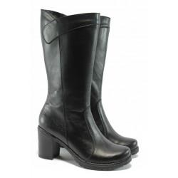 Дамски ботуши от естествена кожа МИ 114-ток черен | Дамски ботуши | MES.BG