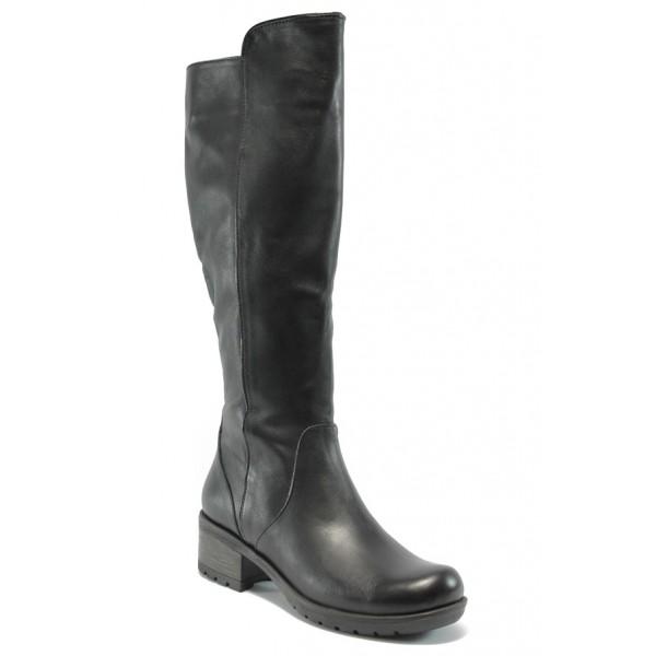 Дамски ботуши от естествена кожа МИ 1800 черен