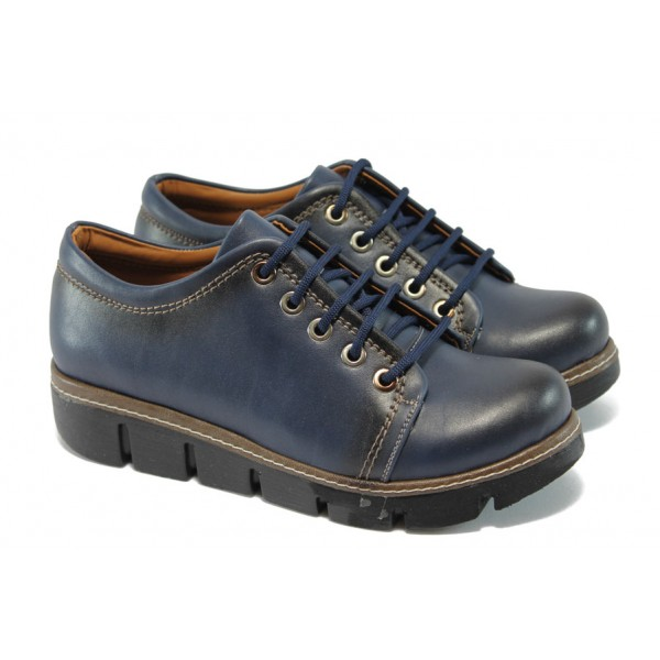 Дамски спортни обувки на платформа МИ 301 син