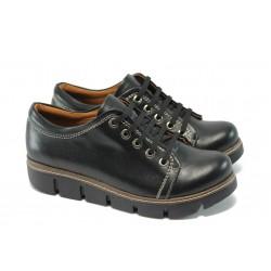Дамски спортни обувки на платформа МИ 301 черен