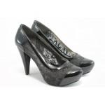 Дамски обувки на висок ток ЕО 234 черно