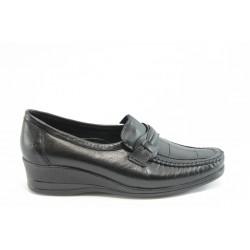 Дамски ортопедични обувки от естествена кожа на платформа МИ 104 черно