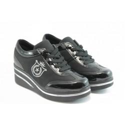Дамски спортни обувки на платформа Jump 7803 черно