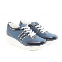 Дамски спортни обувки на платформа Jump 7802 синьо