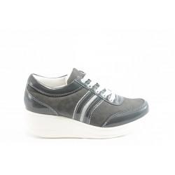 Дамски спортни обувки на платформа Jump 7802 сиво