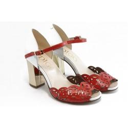 Дамски сандали на висок ток ИО 1457 червен