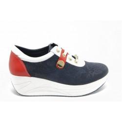 Дамски спортни обувки на платформа МИ 304-8039 сини