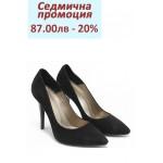 Дамски обувки на висок ток МИ 423 черен велур