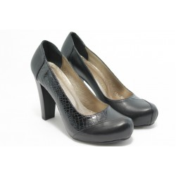 Дамски анатомични обувки на висок ток МИ 26 черно