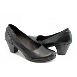 Анатомични обувки на нисък ток естествена кожа НЛ 108-3696
