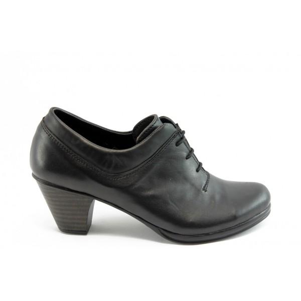 Дамски анатомични обувки на нисък ток с връзки НЛ 119-3696