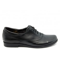 Анатомични спортно - елегантни обувки НЛ 163 черна кожа