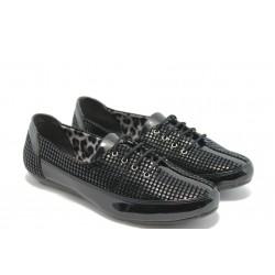 Дамски спортно - елегантни обувки МИ 045 черно