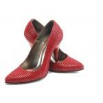 Елегантни дамски обувки на висок ток ЕО 25002 бордо