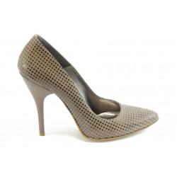 Елегантни дамски обувки на висок ток ЕО 25002 бежово
