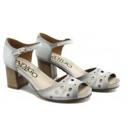 Дамски анатомични сандали на среден ток ИО 1487 бяло