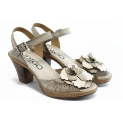 Дамски анатомични сандали на ток ИО 1384 бежово