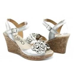 Дамски анатомични сандали на платформа ИО 1482 бяло