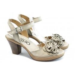 Дамски анатомични сандали на ток ИО 1482 бежово
