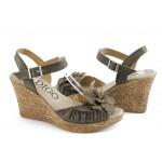 Дамски анатомични сандали на платформа ИО 1384 кафе
