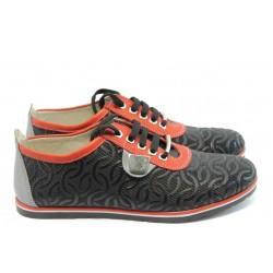 Дамски спортни обувки естествена кожа АК 105 черно