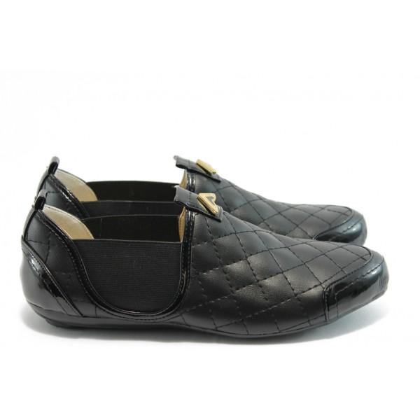 Дамски спортни обувки без връзки МИ 01 черно