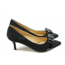 Дамски обувки на ток ПИ 1208 черни