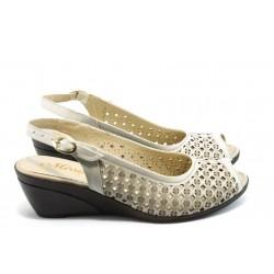 Дамски сандали в номерация 40-42 МИ 116-73-08 бежово