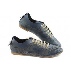 Дамски спортни обувки с перфорация МИ 696 сини