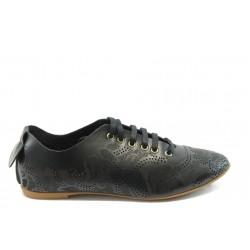 Дамски спортни обувки с перфорация МИ 696 черни