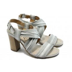 Дамски сандали на висок ток ИО 1471 бели