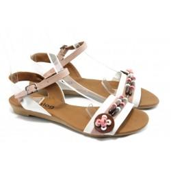 Дамски равни сандали цветни МИ 1 бяла сандала