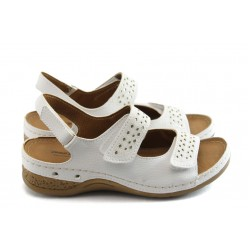 Дамски анатомични сандали Jump 5037 бели