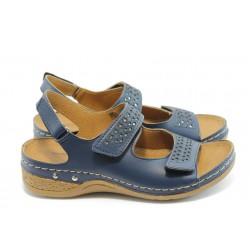 Дамски анатомични сандали Jump 5037 сини